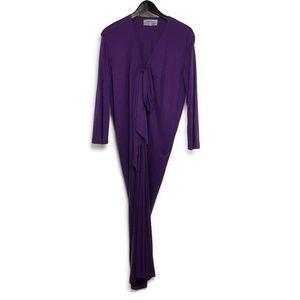 YSL authentic vintage purple jersey dress sz 8